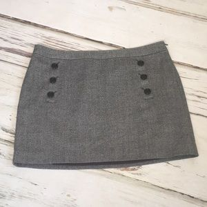 Banana Republic Pencil Skirt Wool Tweed Buttons 14
